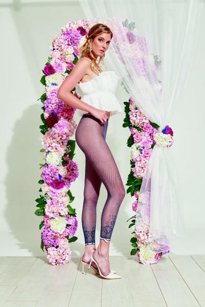 Trasparenze Pomelo - Wunderschöne Netz-Leggings mit floralem Muster