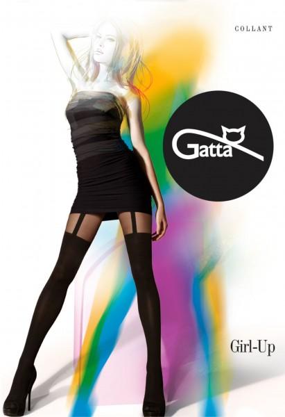 Gatta - Feinstrumpfhose mit Muster in Strapsoptik