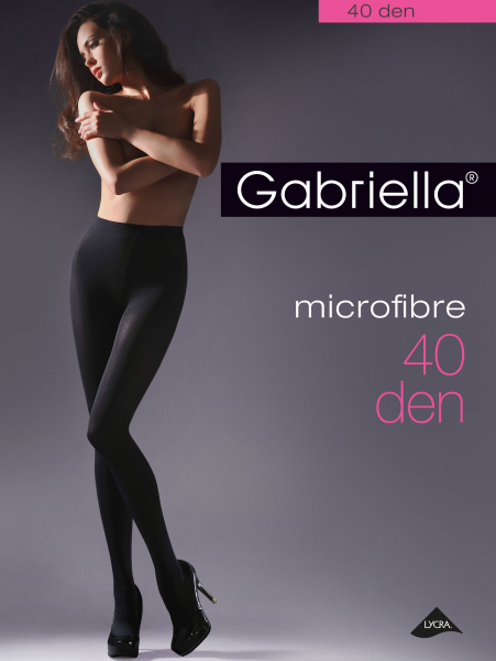 Gabriella Microfibre 40 - Klassische Microfaser-Strumpfhose ohne Muster