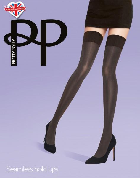 Pretty Polly - Blickdichte halterlose Strümpfe mit nahtlosem Beinabschluss