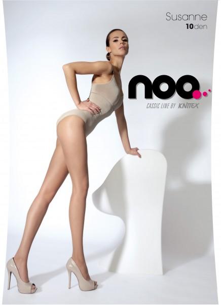 Elegante Sommerstrumpfhose mit transparenter Fußspitze Susanne von Knittex