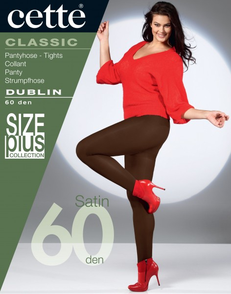Cette Size Plus Collection - Blickdichte, weiche Plus Size Strumpfhose Dublin