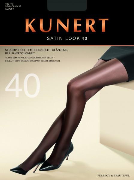 Blickdichte glänzende Strumpfhose Satin Look 40 von KUNERT