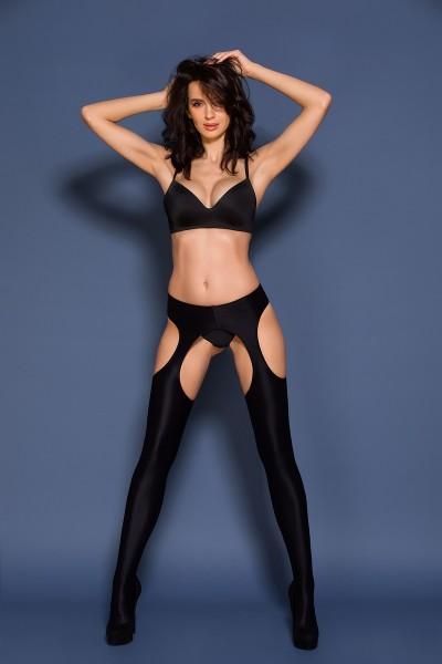 Gabriella - Blickdichte, glänzende Strip Panty mit Wet-Look