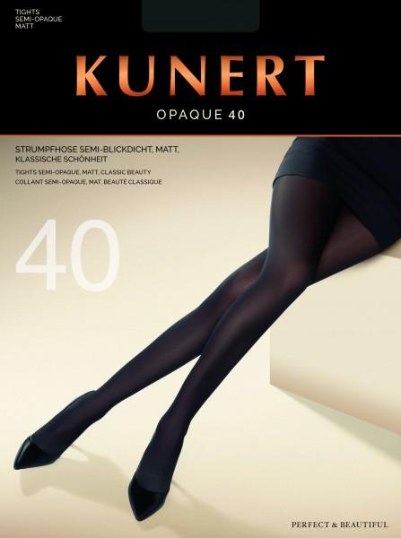 KunertOpaque40 - Semi-blickdichteStrumpfhoseohneMuster
