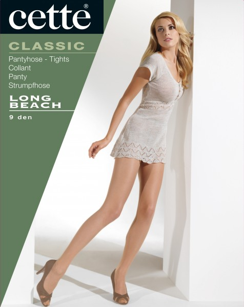 Cette Long Beach - Hauchzarte Sommerstrumpfhose mit transparenter Fußspitze