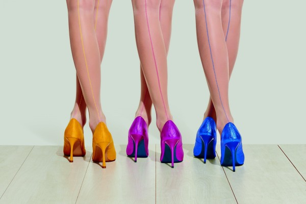 Trasparenze Mirtillo - Feinstrumpfhose mit raffinierter Naht in Frühlingsfarben