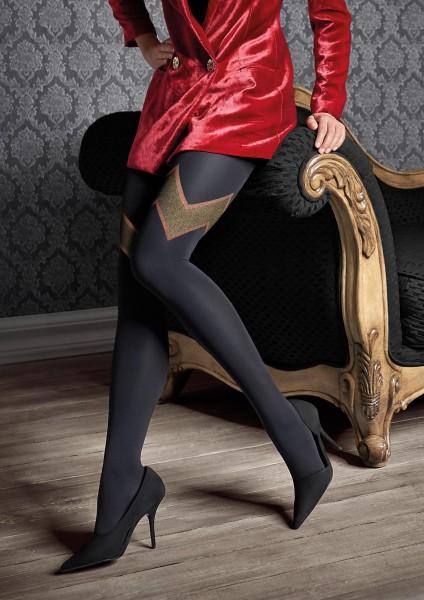 Patrizia Gucci for Marilyn - Strumpfhose mit glitzerndem Muster und Strumpfoptik