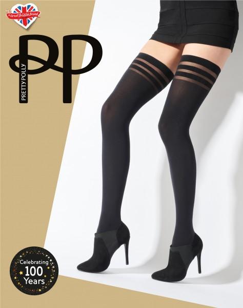 Pretty Polly Banded - Blickdichte halterlose Strümpfe