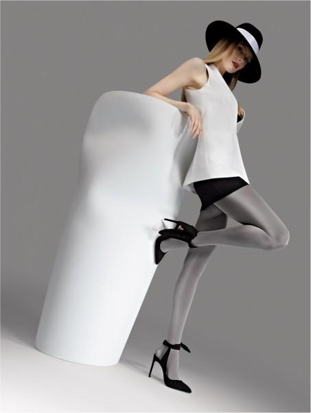 Blickdichte glänzende Strumpfhose 100 DEN von Knittex