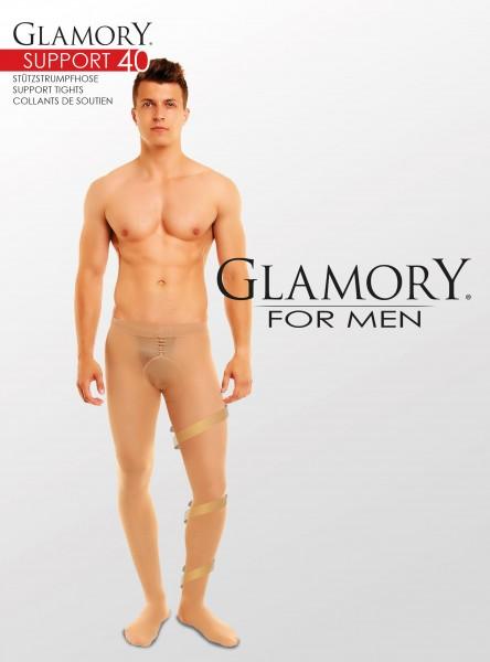 Glamory Support 40 - Semi-blickdichte Stützstrumpfhose für Männer