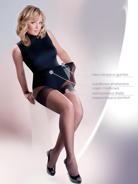Gabriella Xenia Plus Size - Bequeme Feinstrumpfhose für große Größen