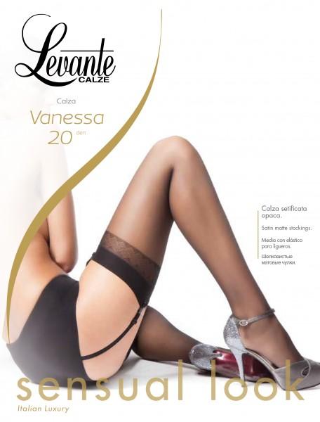 Klassische Strapsstrümpfe mit dezent gemustertem Abchluss Vanessa von Levante