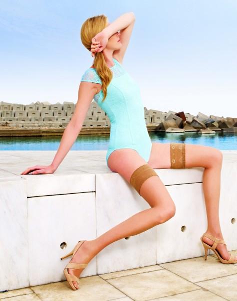 Transparente halterlose Sommerstrümpfe Marbella 8 DEN von Cecilia de Rafael